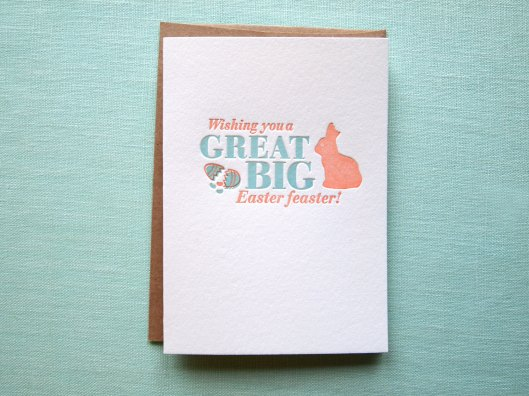 Farewell Paperie - Easter Feaster Letterpress Card, $5