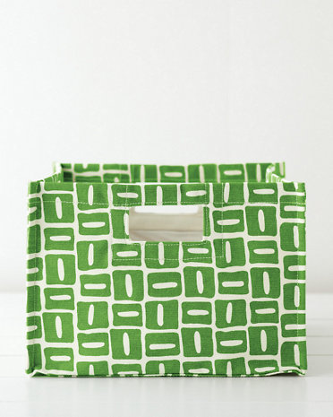 Garnet Hill - Printed Canvas Storage Bin, $34