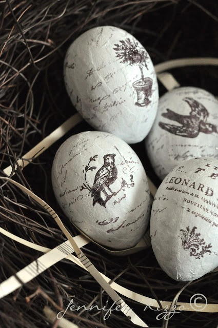Hand Stamped Eggs