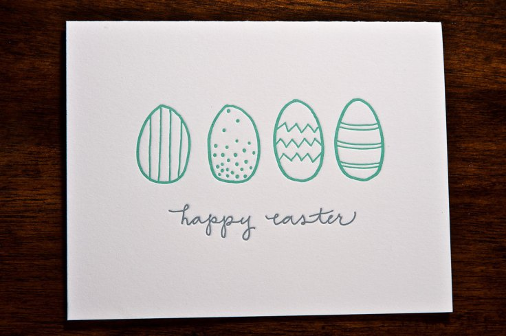 Ink Meets Paper - Letterpress Easter Eggs