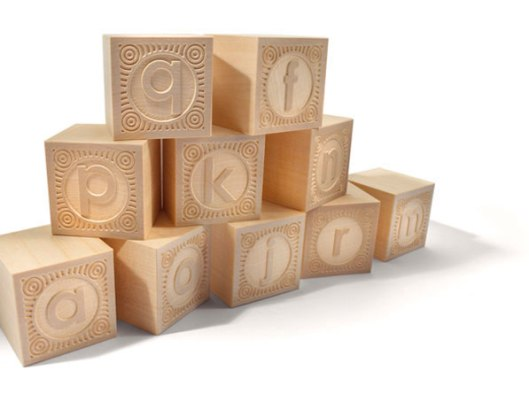 Alphablanks 14-block set, $14