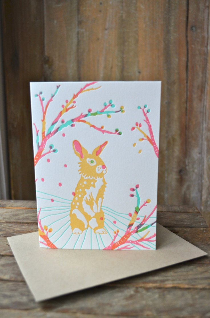Moxie House Paper Goods - Rabbit Letterpress, $5