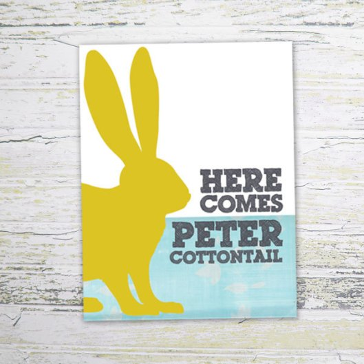 Paper Finch Design - Peter Cottontail, $4