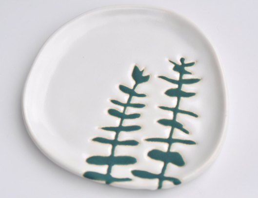 Hope Johnson - Ceramic plate, $28