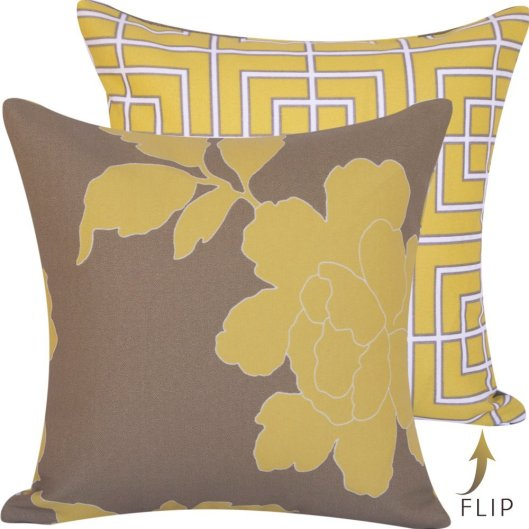 "Chloe and Olive - 18"" reversible Outdoor Pillow Cover, $29"