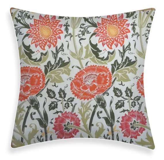 "Mod Diva - Floral 18"" Indoor/Outdoor Pillow Cover, $29.95"
