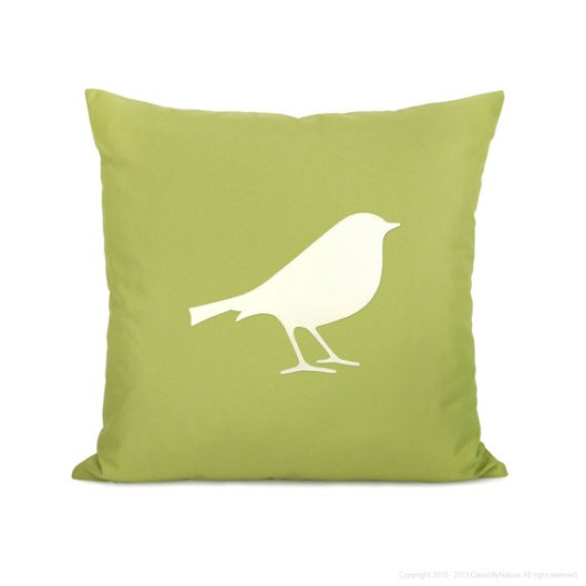 "Classic By Nature - 18"" Bird Outdoor Pillow, $38"