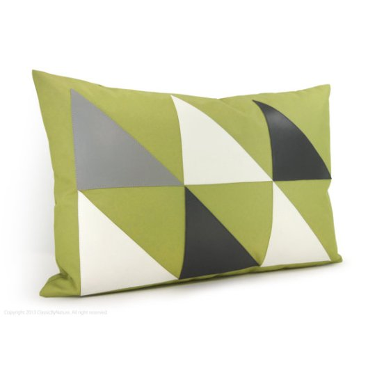 "Classic By Nature - Green 18""x12"" Outdoor Pillow Cover, $40"