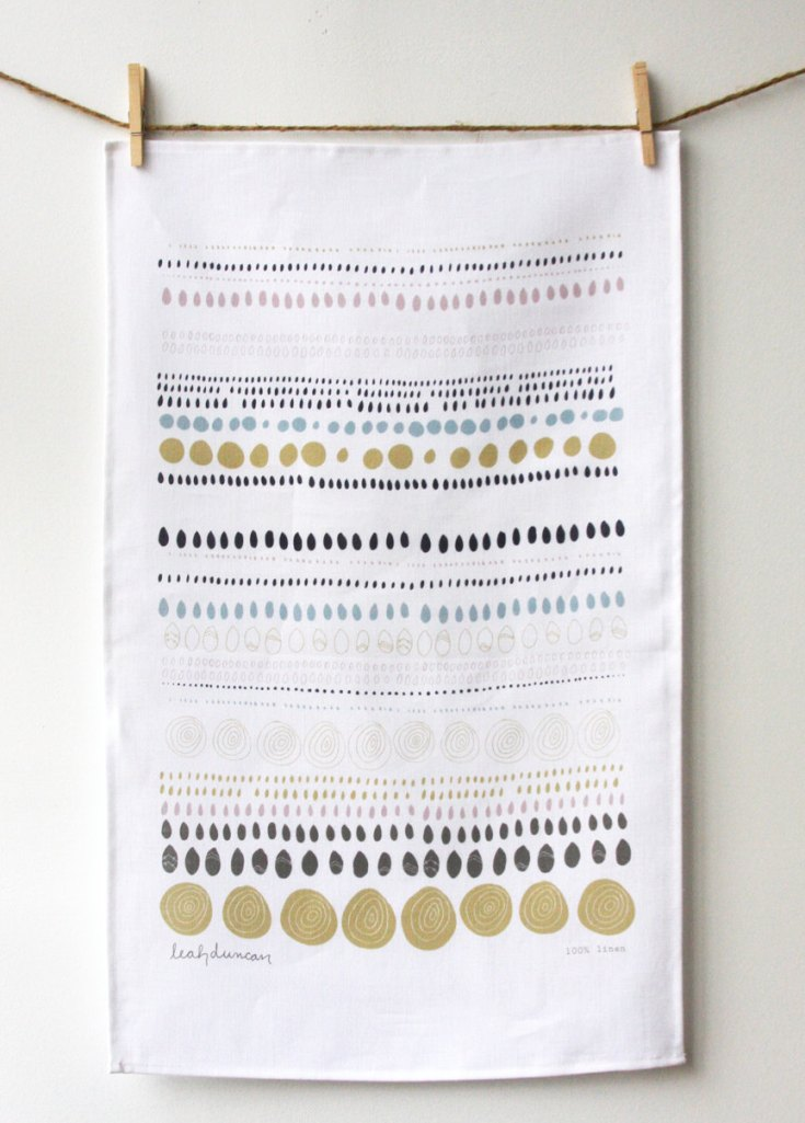 Dots Tea Towel, $18