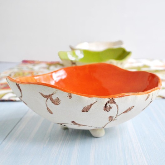 Urban Rustic Hand Built Ceramic Bowl (side view)