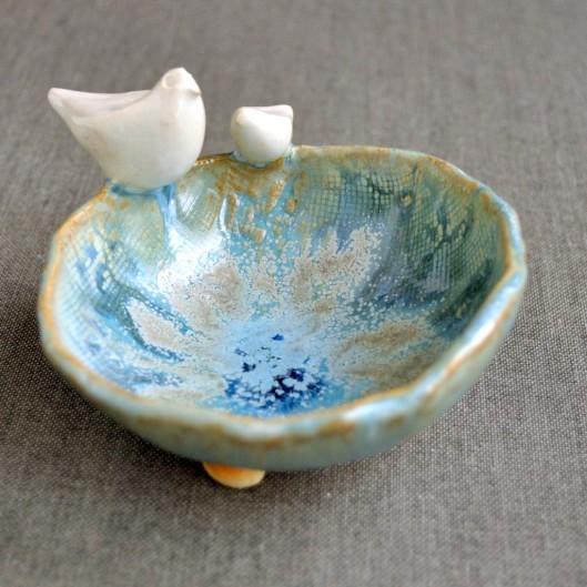 Urban Rustic Hand Built Ceramic Bowl, $22