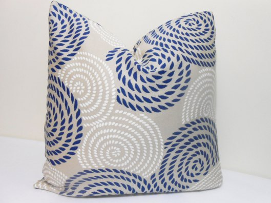 "Zourra Designs - Large Scale Swirls 20"" Outdoor Pillow Cover - $35"