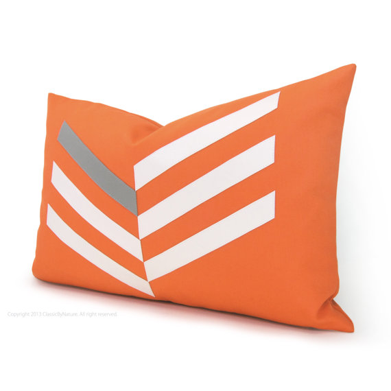 "Classic By Nature - Chevron 18""x12"" Outdoor Pillow Cover, $40"