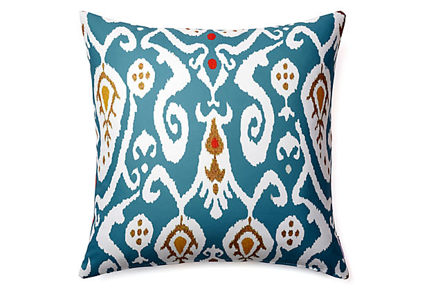 "Divine Designs - Ikat 20"" Outdoor Pillow, $55 (sale)"