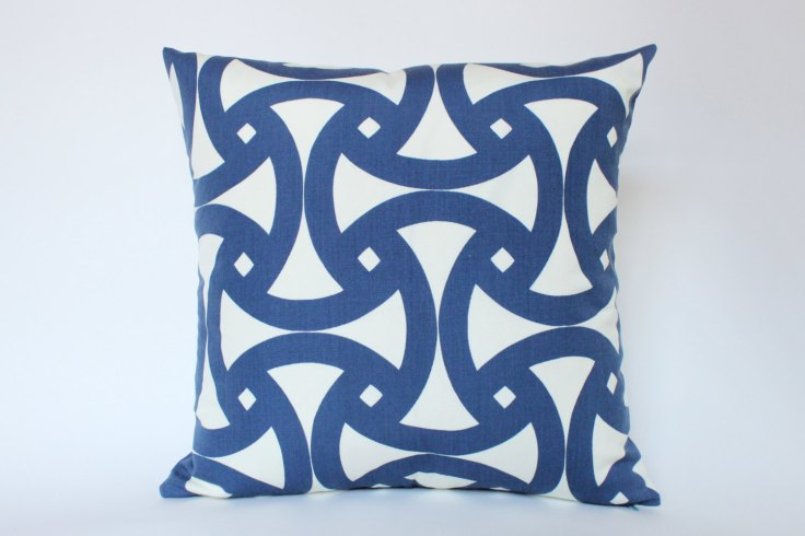 "The Pillow Studio - Santorini 18"" Outdoor Pillow Cover, $65"