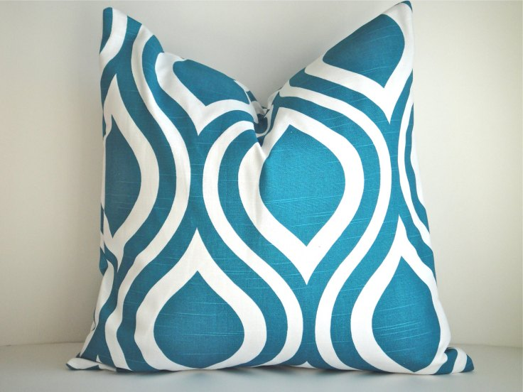 "Simply Devine - Set of 2 Emily Aquarious 20"" Outdoor Pillow Covers, $42"