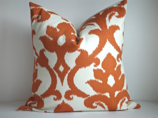 "Simply Divine - Set of 2 Basolto Tangerine 20"" Outdoor Pillow Covers, $57"