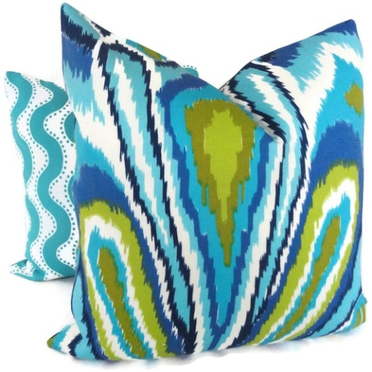 "Pop O Color - Trina Turk Fabric 18"" Outdoor Pillow Cover, $75"