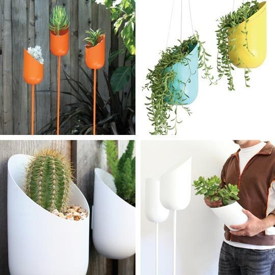 A variety of planters from Design Public, starting at $72
