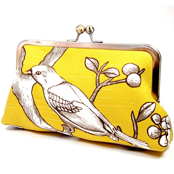 Eleven Roosters - Citrine Blossom Clutch, $55