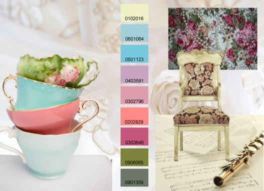 """Sweet Affection"" - light pastel colors that carry a happy, feminine feel"