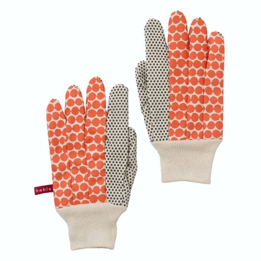 Hable Construction - Gardening Gloves in Clementine Beads, $26