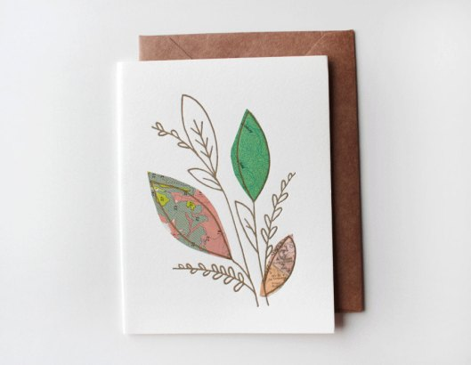 Leafy Greens Collage Card, $6.50