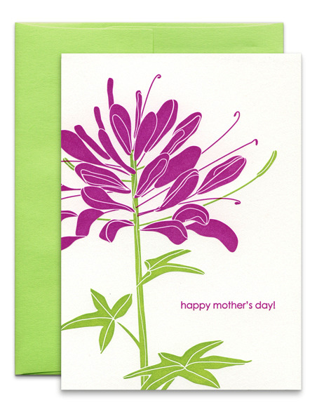 Kate's Paperie - Purple Flower, $4.95