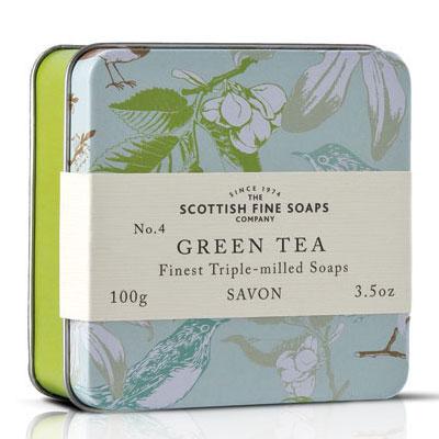 Scottish Fine Soaps - Green Tea Soap in a Tin, £4.95