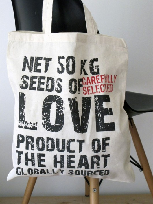 Chocolate Creative - Hand Printed Cotton Tote Bag, £7.50