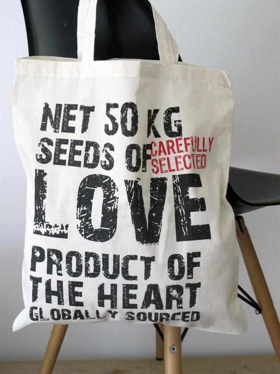 Chocolate Creative - Hand Printed Cotton Tote Bag, £7.50