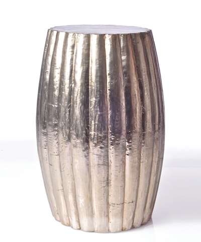 Bliss Home - Silver Garden Stool, $550