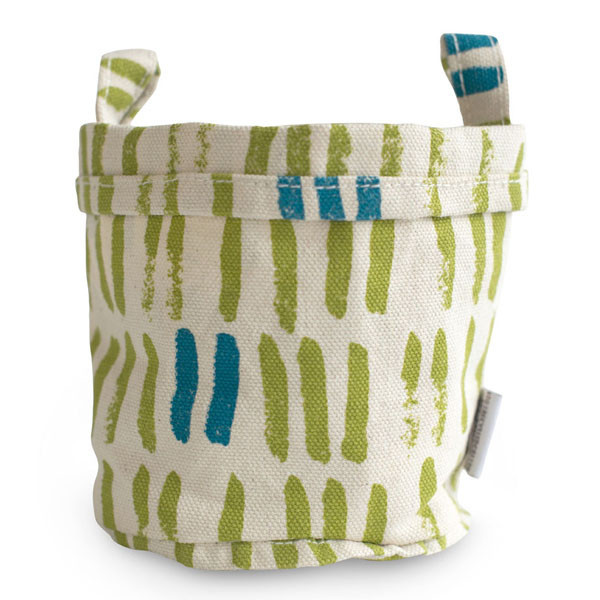 Recycled Canvas Bucket, Lime, $12