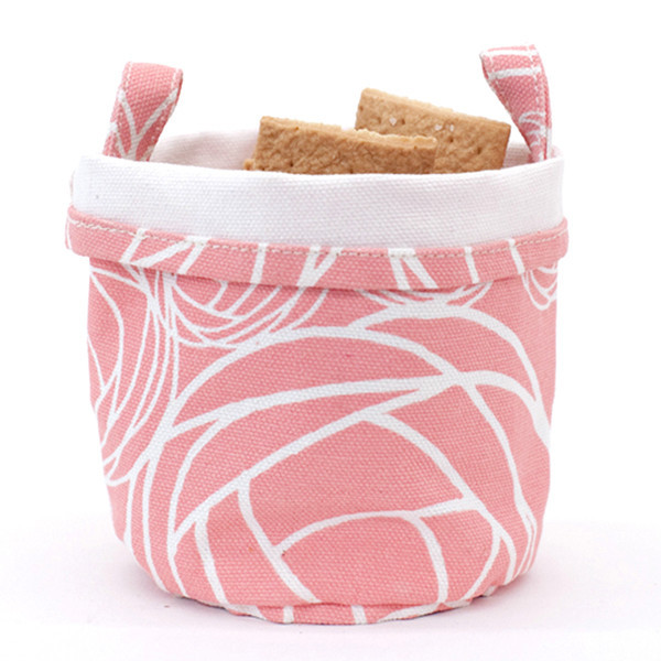Recycled Canvas Bucket, Pink, $12