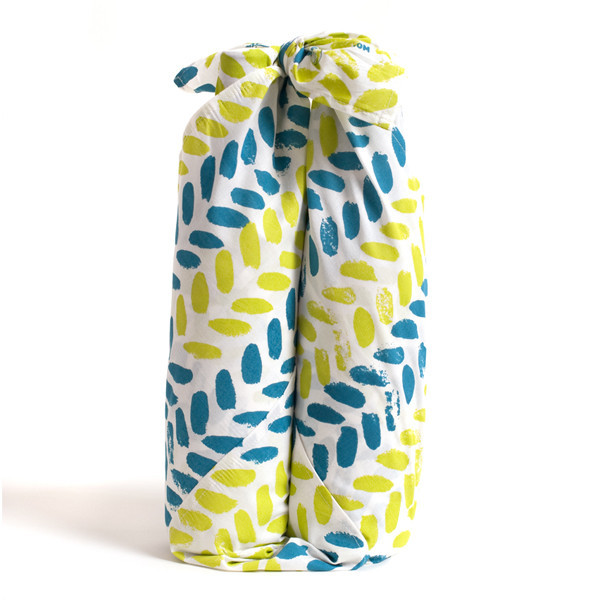 "Organic Cotton Reusable ""Give Wrap"" printed with soy inks, 28"" x 28"", Leaves, $17"
