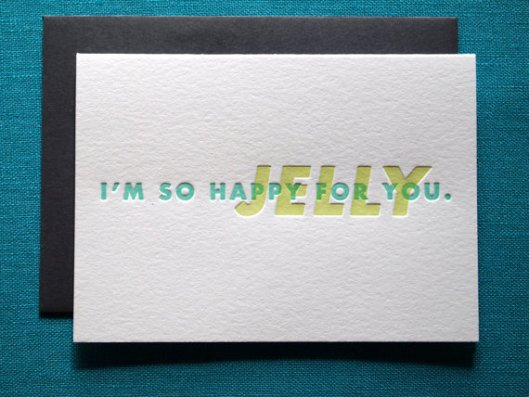 Jelly Letterpress Card, $5