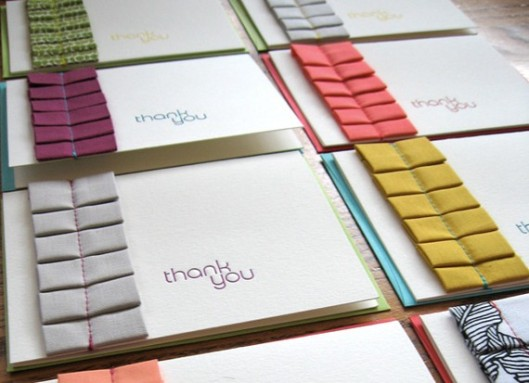 Ruffle Letterpress Thank You Card, $7 (each)