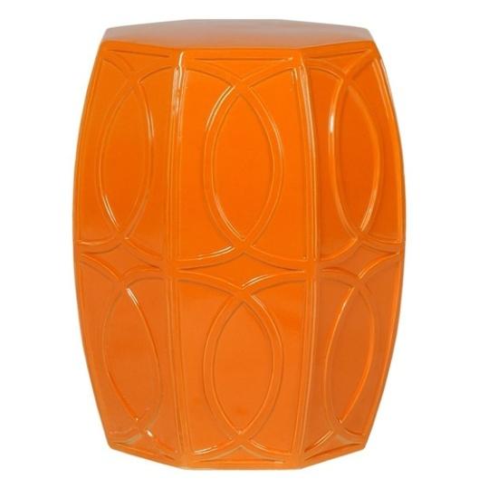 Emissary Home & Garden - Orange Garden Stool, $385