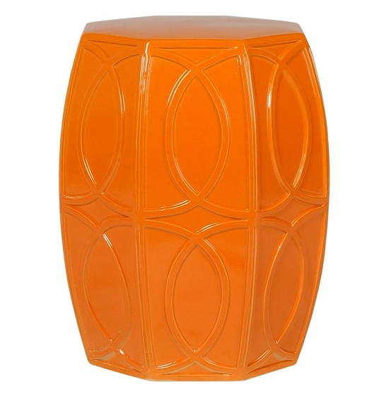 Emissary Home & Garden - Orange Garden Stool, $385
