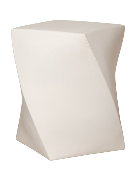 InSide Avenue - Twist White Garden Stool, $270