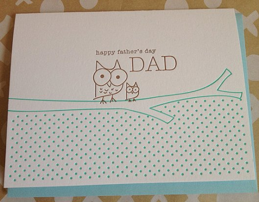 DeLuce Design Letterpress Paper Goods - Dad Owl, $5