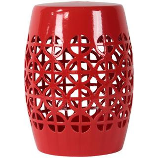 Urban Trends - Red Open Work Garden Stool, $170