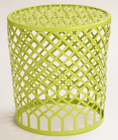 World Market - Green Striped Landon Garden Stool, $79.99