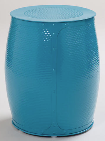World Market - Pagoda Blue Lucas Wrapped Garden Stool, $59.99