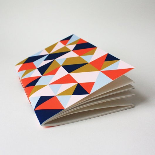 Painted Fish Studio - Triangle jotter, $6