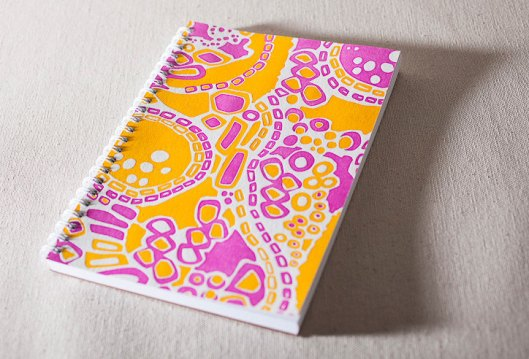 Smock Paper - Spiral Bound Letterpress notebook, $12