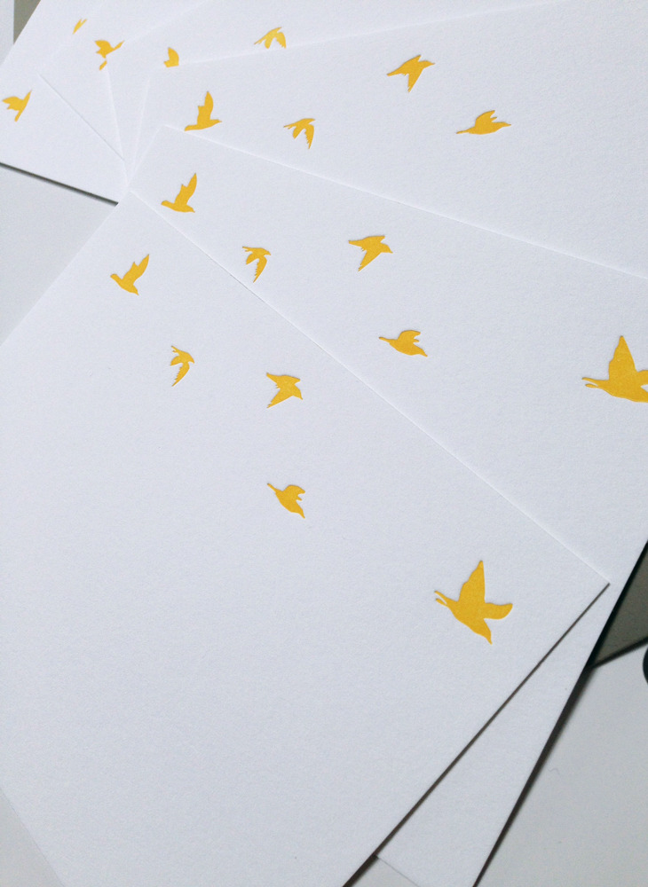 Flying Birds Note Cards set of 8, $18
