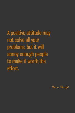 A positive attitiude