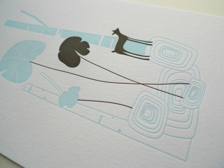 Tara Hogan - Birch Tree Letterpress Print, $25