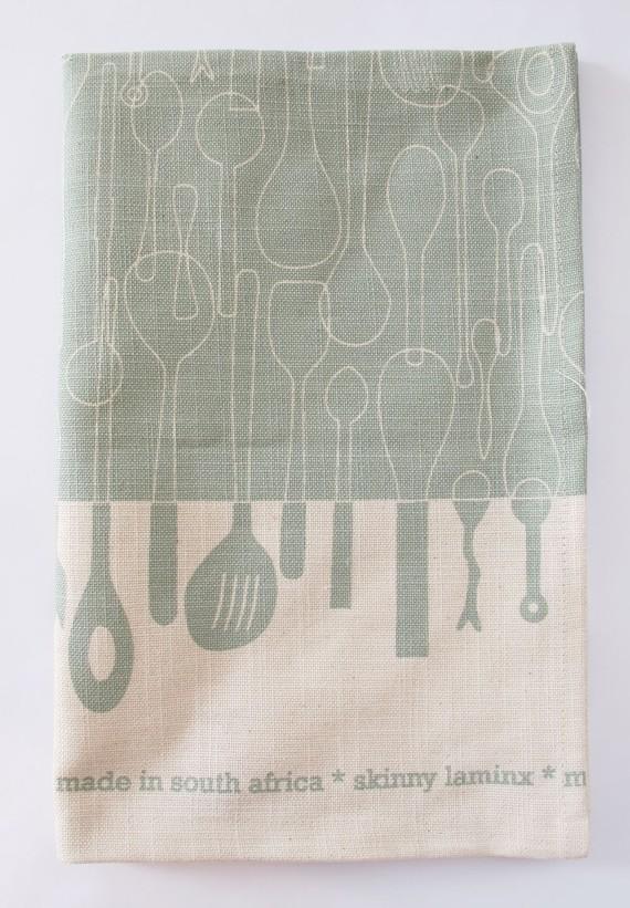 Borrowed Spoons Tea Towel, $18